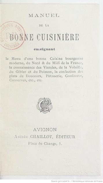 Ouvrages anciens :  Les livres de cuisine  Manuel13