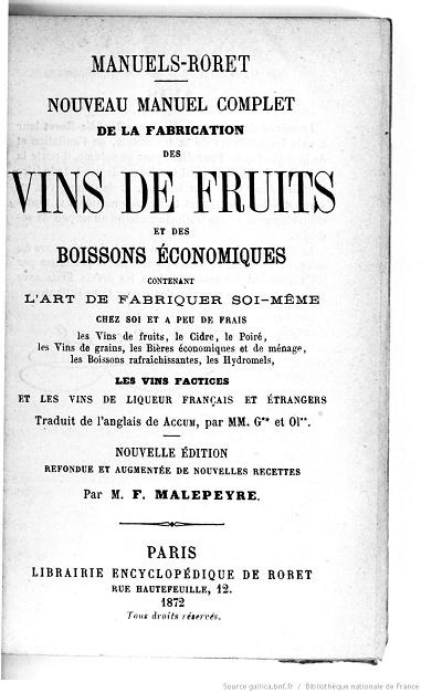 Ouvrages anciens : Les Breuvages .. Vins_d11