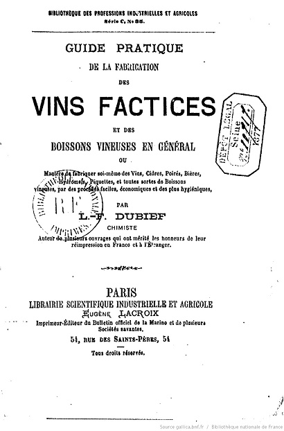 Ouvrages anciens : Les Breuvages .. Vins_f10