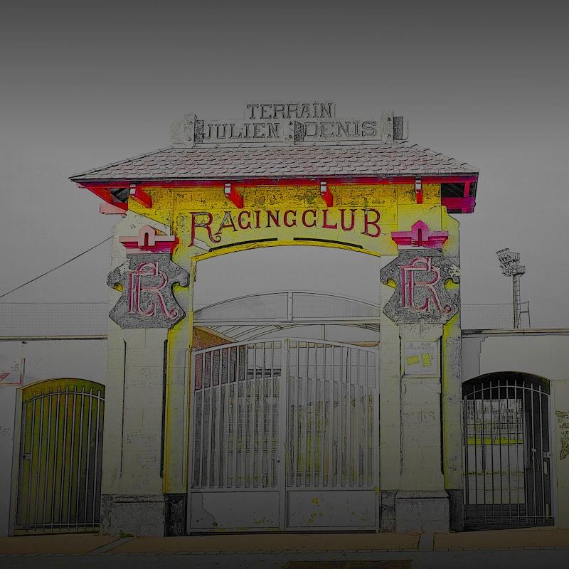L'entrée du stade aux couleurs du club P1030614
