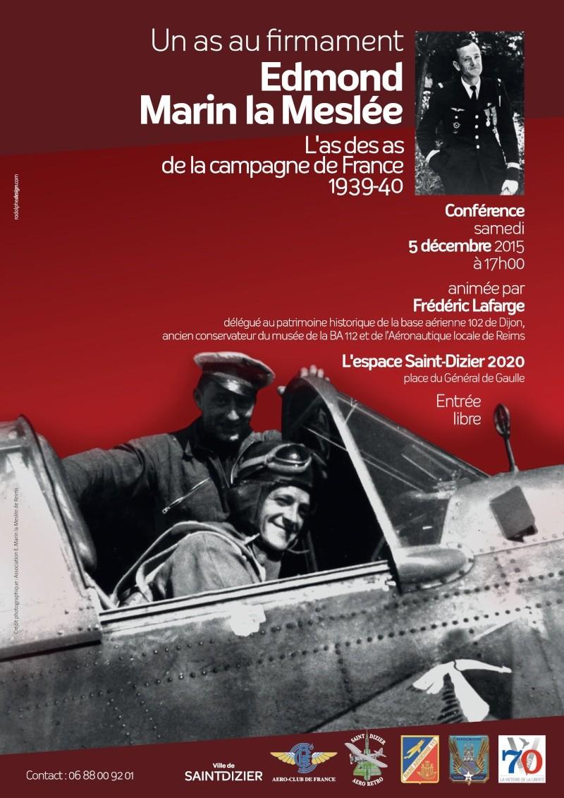 Conférence 5 décembre 2015 St Dizier « Edmond Marin la Meslée », l'as des as de la campagne de France 1939-1940 Saint-10