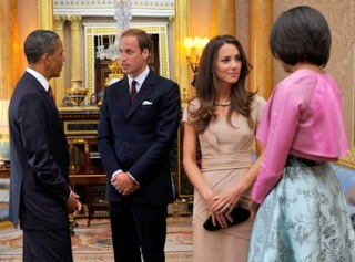 Will and Kate meet the Obamas~  111110