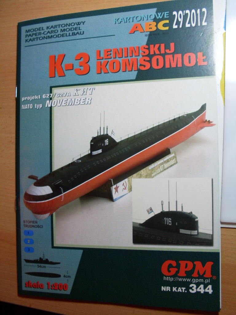 U-Boot K-3 Projekt 627/627A  November-Klasse  GPM 1:200 Sdc14610