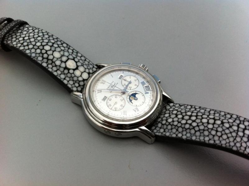 Bracelet montre homme galuchat