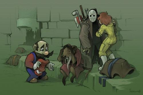 Images humoristiques ayant lien avec le jeu vidéo - Page 8 Mario-10