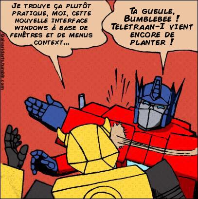 [Mini-Jeu] Générateur de Meme - Imaginez le dialogue - Optimus gifle Bumblebee/Bourdon! Jeumot10