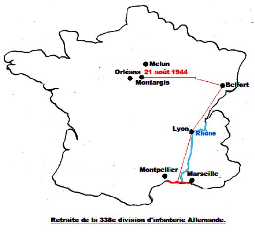 Libération de GRISELLES 1944 Retrai10