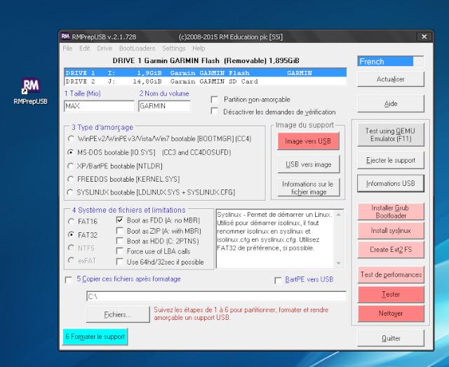 Etrex20 bloqué suite à formatage [RESOLU] Format10