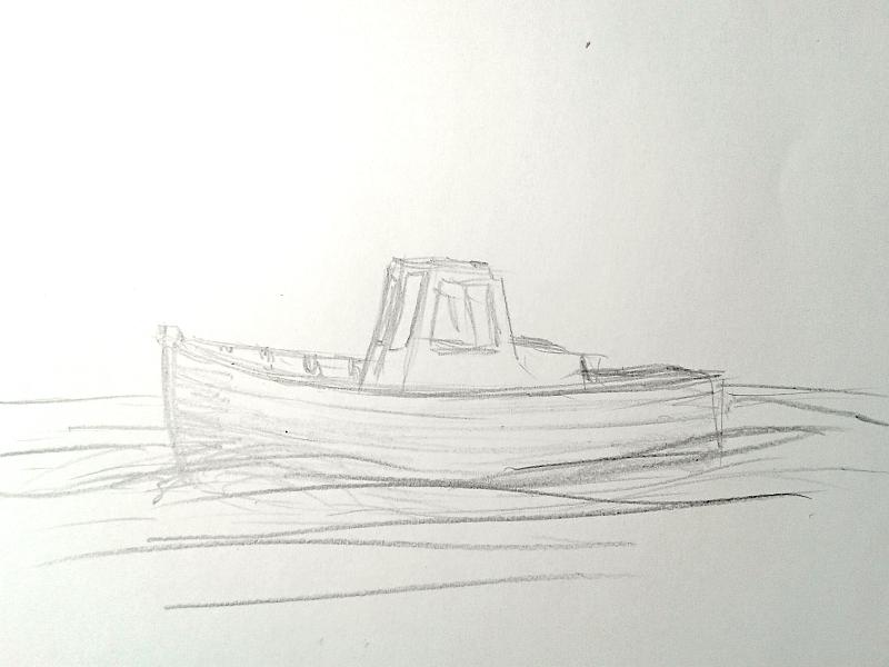 Kleines Fischerboot aus eigener Werft Boot0010