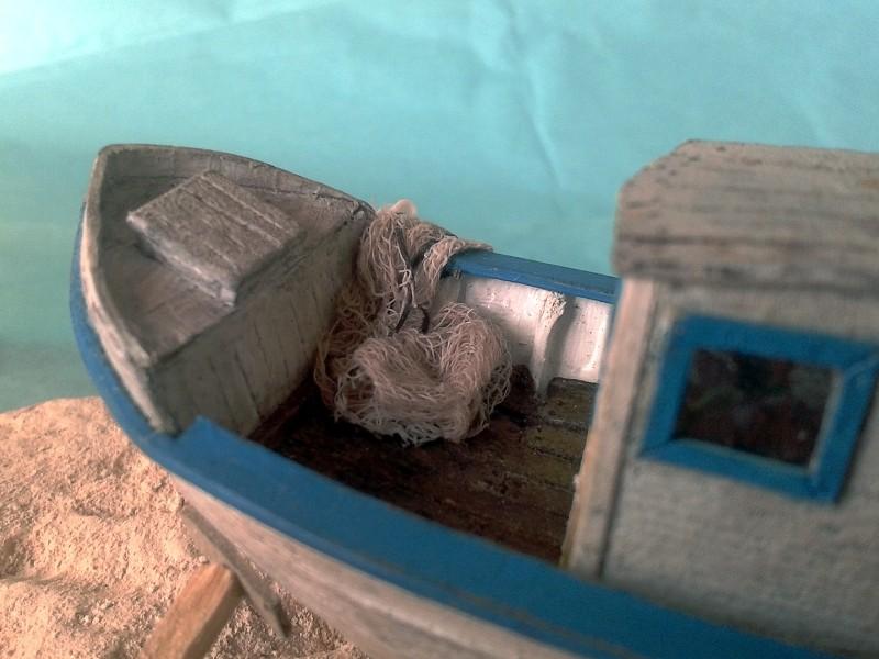 Kleines Fischerboot aus eigener Werft Boot4610
