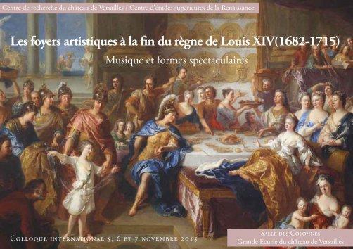 Les foyers artistiques à la fin du règne de Louis XIV Arton710