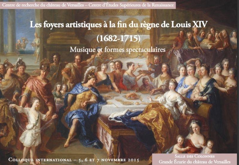 Les foyers artistiques à la fin du règne de Louis XIV Colloq10