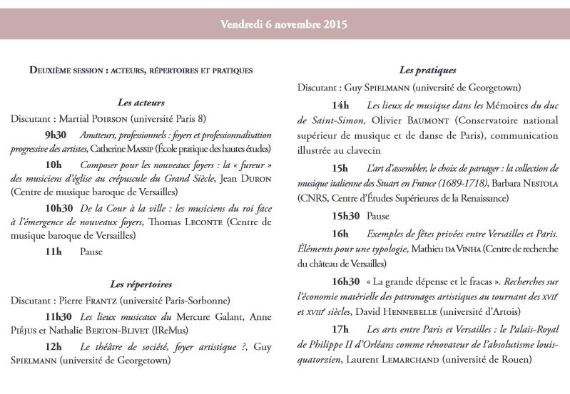 Les foyers artistiques à la fin du règne de Louis XIV Colloq11