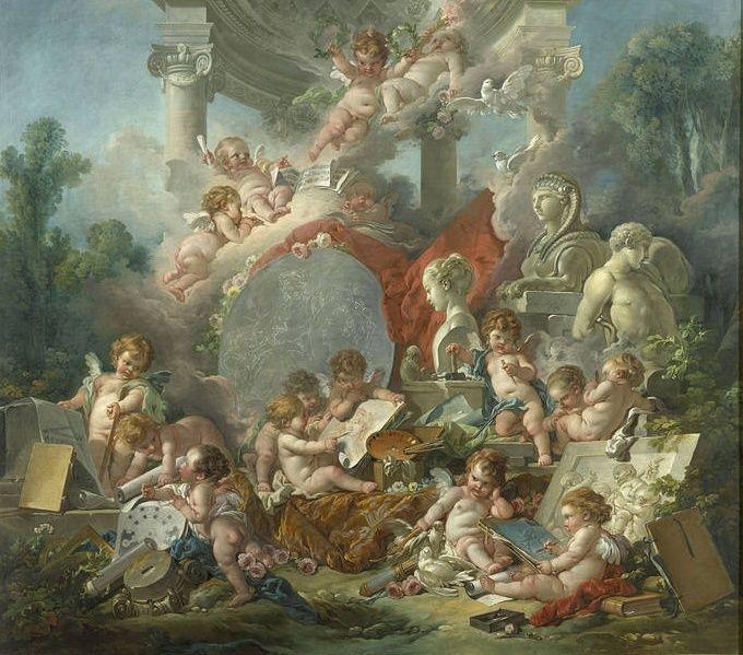 amours - La tenture des Amours des dieux au MBA d'Angers Hally10