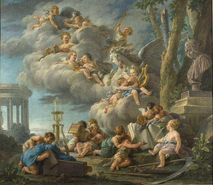 amours - La tenture des Amours des dieux au MBA d'Angers Tentur10