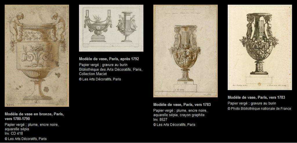 Expo: Dessiner et ciseler le bronze, Jean-Louis Prieur Vases_11