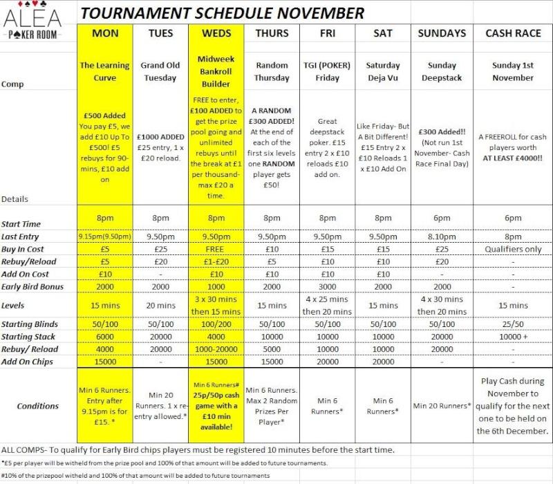 Alea Nottingham November Schedule Alea12