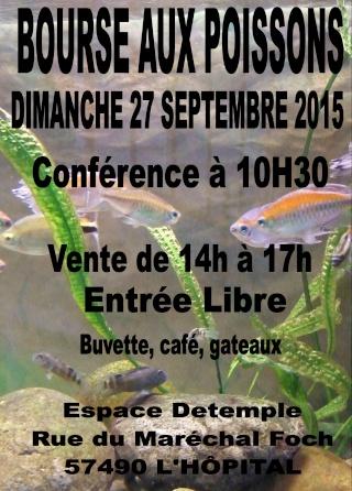 Bourse de L'Hôpital (57) : 27 septembre 2015 Affich12
