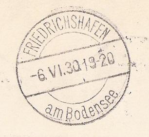 """nach - Südamerikafahrt 1930 (Rundfahrt-) Post nach Friedrichshafen"""" - Seite 6 Ak_fri11"""