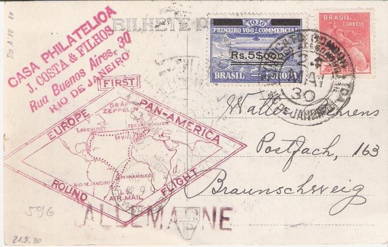"""Südamerikafahrt 1930 (Rundfahrt-) Post nach Friedrichshafen"""" - Seite 5 Casa10"""