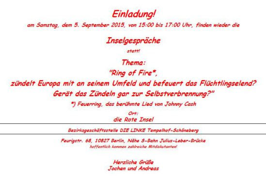 """Einladung zu den """"Inselgesprächen"""" am 5. September: """"Ring of Fire, Europa und die Selbstverbrennung!"""" Unname10"""
