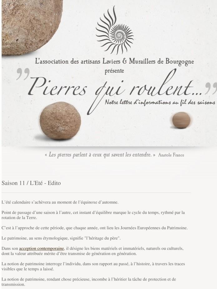 """""""Pierres qui roulent..."""" Saison 11 / L'Eté 01_cop10"""