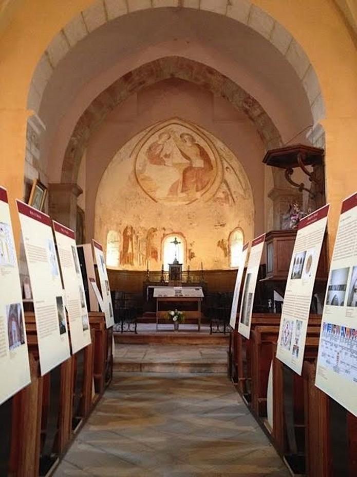 Exposition Pacob à l'église de la Chapelle-sous-Brancion aux Journées du Patrimoine 2015 Claude11