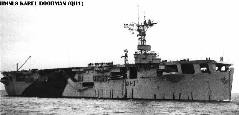 Le porte-Avions Karel Doorman en 1960 Qh110