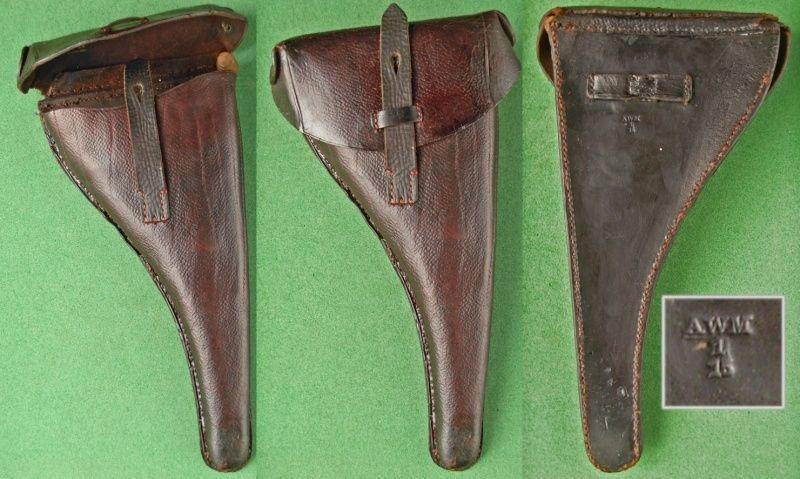 Les étuis cuir et autres pour les P 08 d'artillerie 1913-1946. Holste44