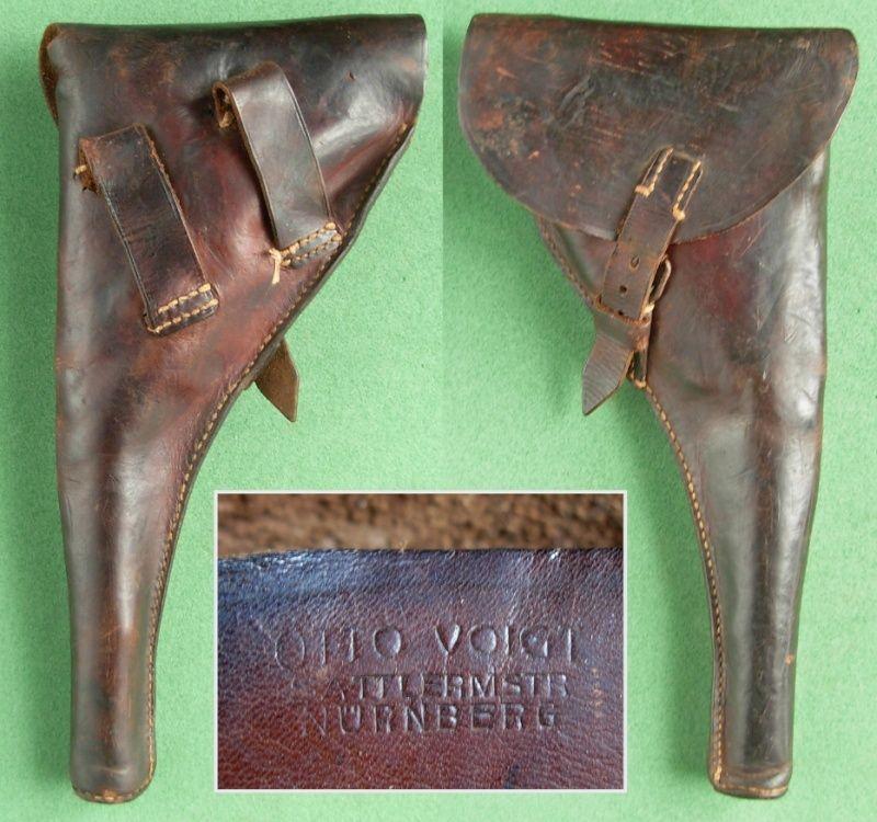Les étuis cuir et autres pour les P 08 d'artillerie 1913-1946. Holste48