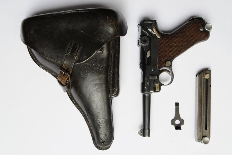 Un rare P 08 Mauser de la Kriegsmarine allemande, de 1935, codes G et S/42. Mauser10