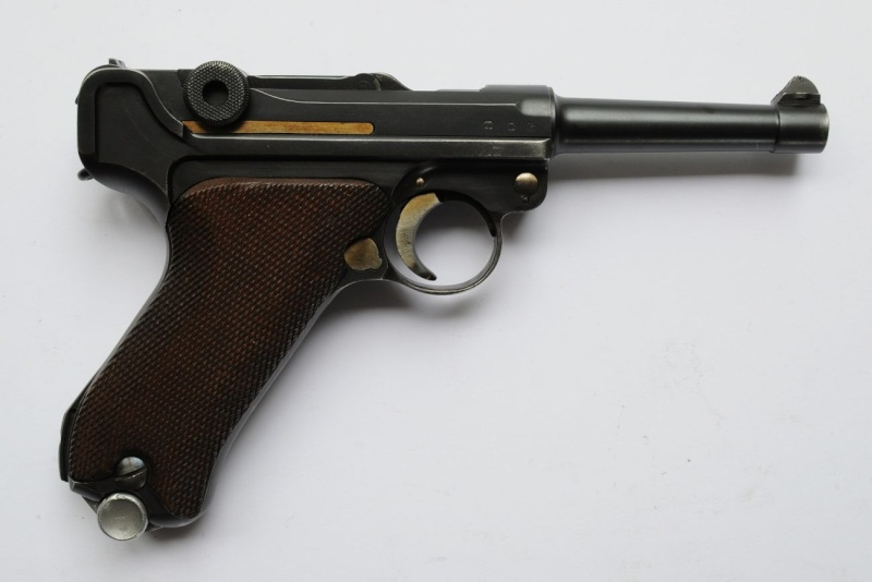 Un rare P 08 Mauser de la Kriegsmarine allemande, de 1935, codes G et S/42. Mauser14