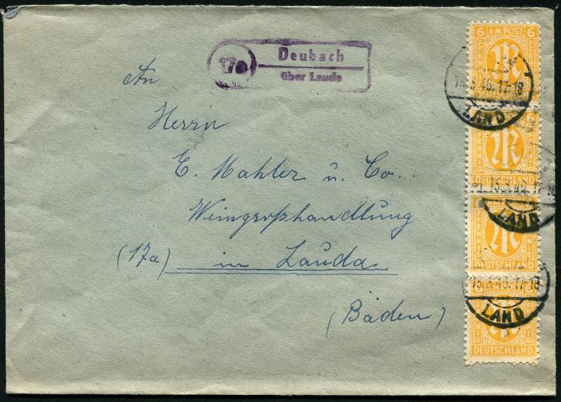 1945 - Deutschland  -  Landpoststempel (Poststellenstempel) Brief_10