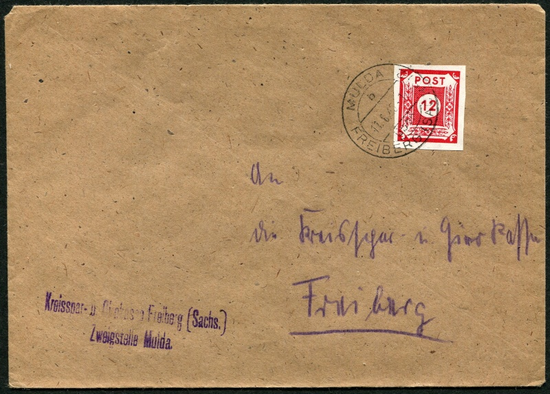 1945 - Deutschland  -  Landpoststempel (Poststellenstempel) Postst10