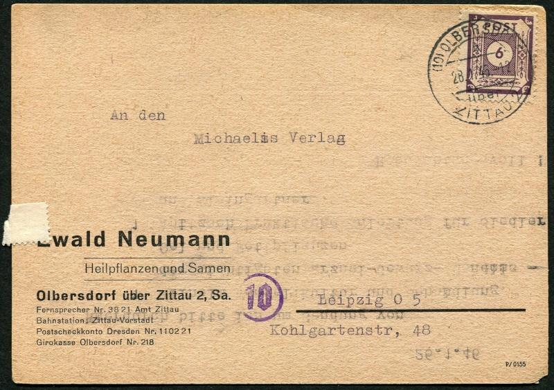 1945 - Deutschland  -  Landpoststempel (Poststellenstempel) Postst11