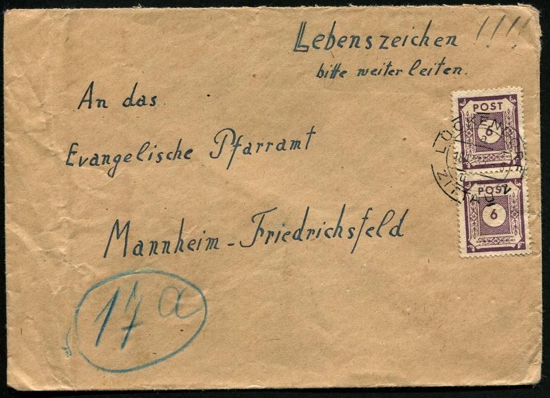 1945 - Deutschland  -  Landpoststempel (Poststellenstempel) Postst12
