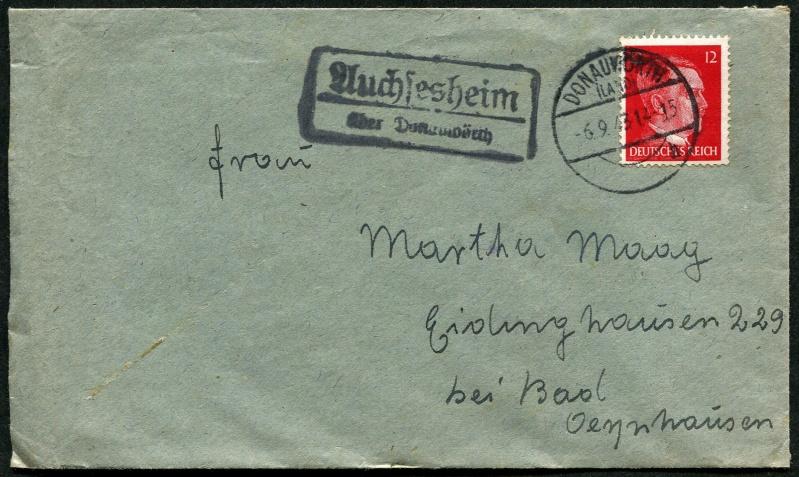 1945 - Deutschland  -  Landpoststempel (Poststellenstempel) Postst14