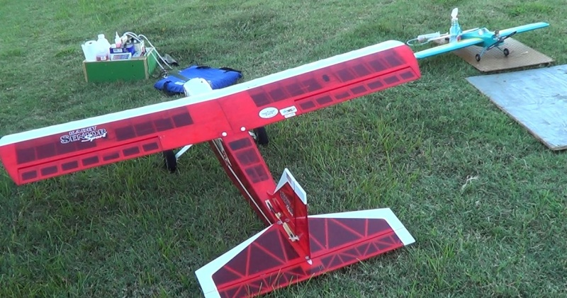 Dangling landing gear, model airplane parts falling from the sky, a big, cranky C-123 that just doesn't want to fly, and 3 successful flights on my rebuilt-rebuilt Super Ringmaster... 16_10