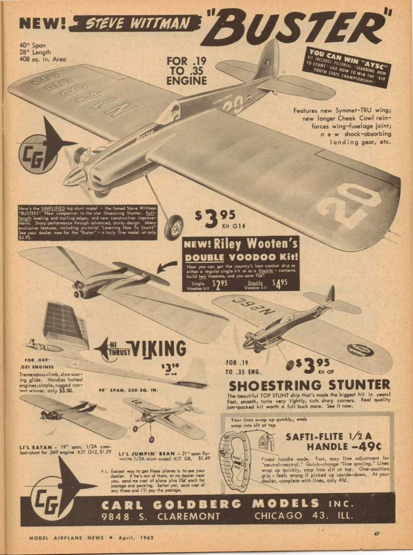 "Uncle Wayne's Carl Goldberg ""Buster""...Old Thread Buster10"