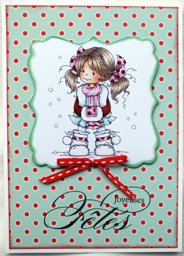 6 décembre-inspiration carte: petites filles Dscf0918