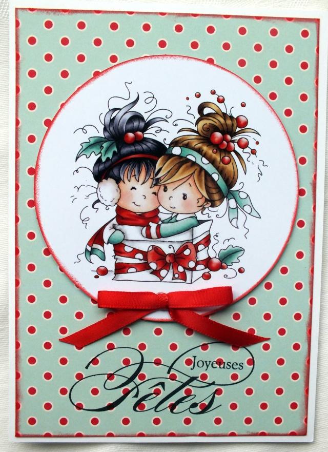 6 décembre-inspiration carte: petites filles Dscf0919