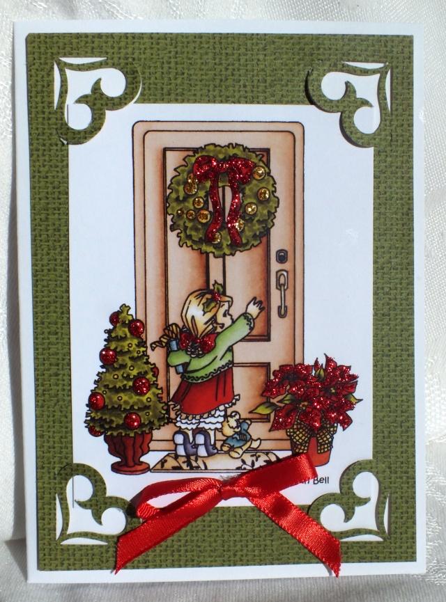 10 décembre-inspiration carte: porte Dscf0927