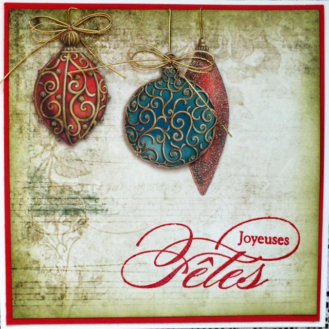 9 décembre-inspiration carte: Boules Dscf0930