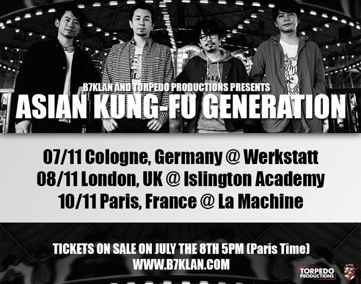 [10 novembre 2015] Asian kung-fu génération à Paris Ajikan10