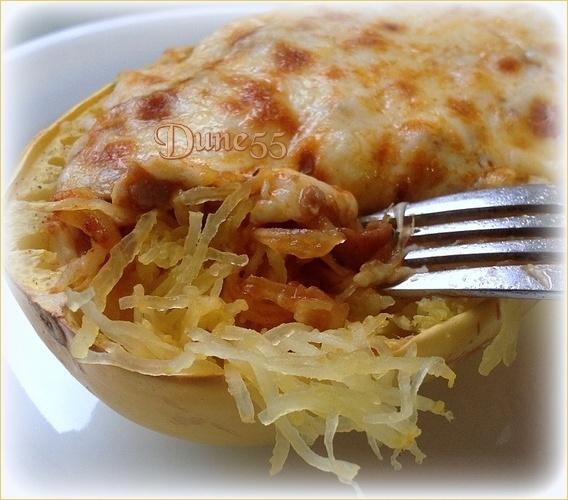 Courge spaghetti sauce tomate à la viande gratiner P15ygs10