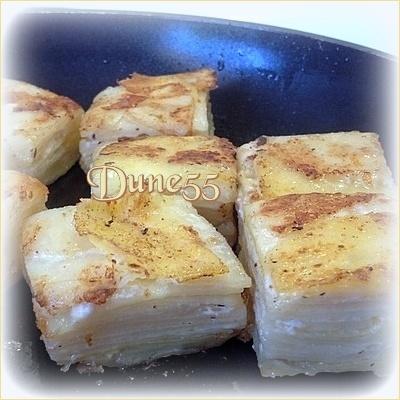 Pavés de pommes de terre aux zestes de citron & thym Rl59v210