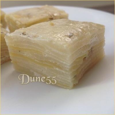 Pavés de pommes de terre aux zestes de citron & thym Yat7un10