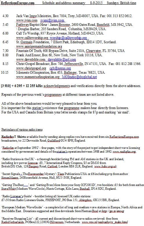 email de Radio Réflexions europe 210