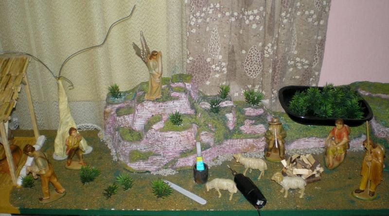 Krippen-Diorama zur Figurengröße 16 cm 001f1b10