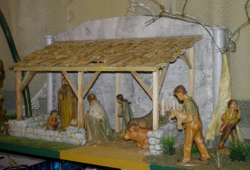 Krippen-Diorama zur Figurengröße 16 cm 003a8b11
